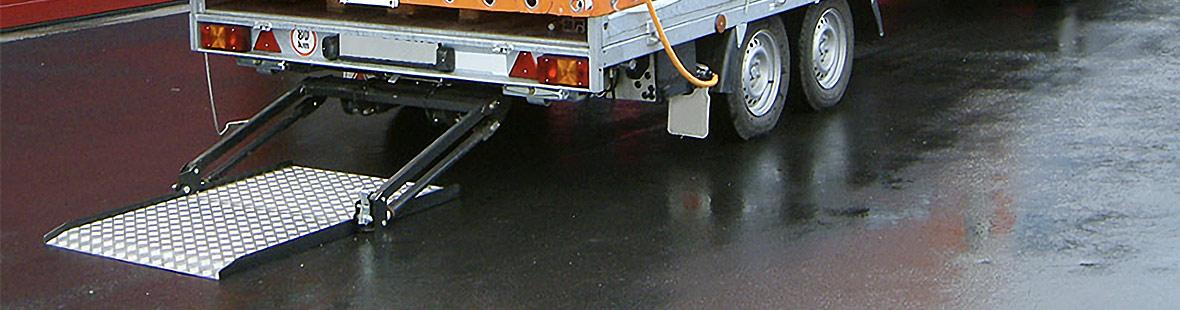 Гидроборт выдвижной для промтоварного фургона