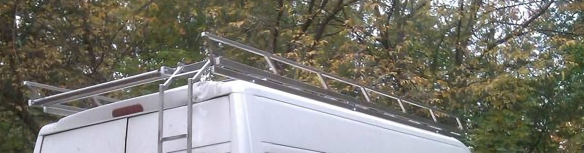 Нержавеющий багажник с роликом и лестницей для Ford Transit VI