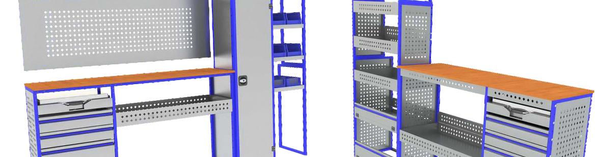 Комплексная стеллажная система для Citroen Jumper