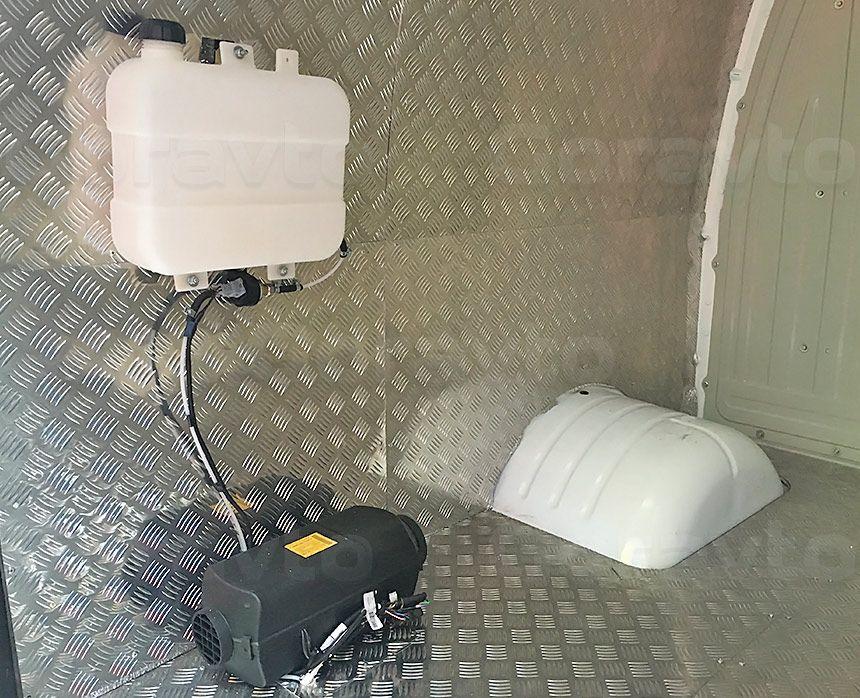 Утепление, обшивка и установка отопителя в Газель: Отопитель и бак