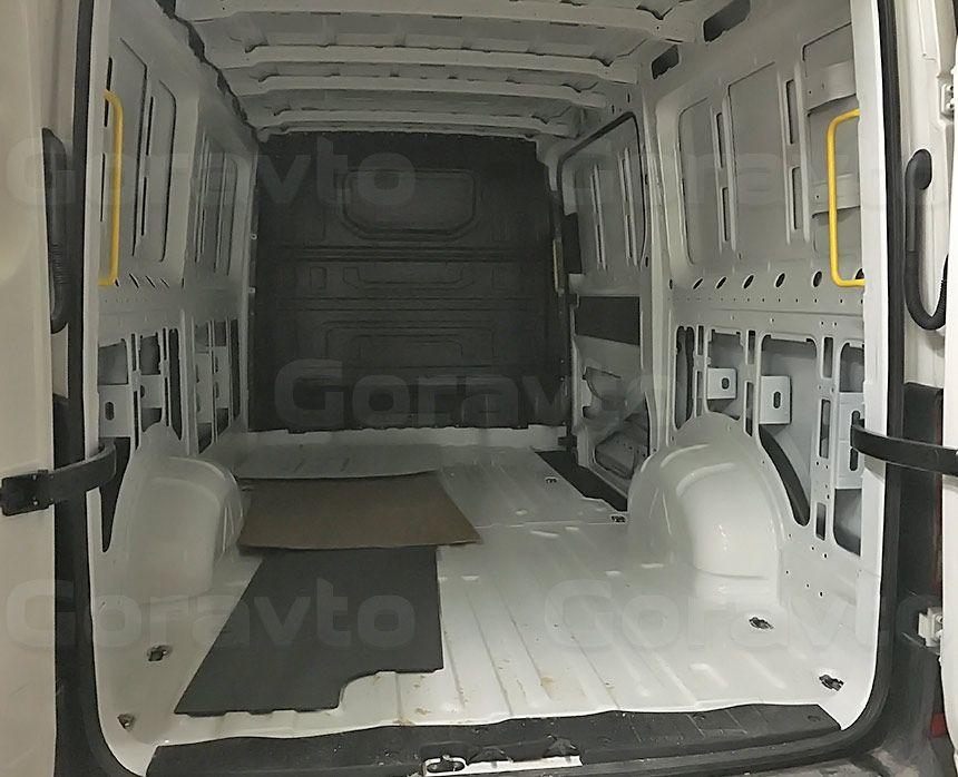 Виброизоляция фургона Volkswagen Crafter 2017: Подготовка фургона к виброизоляции