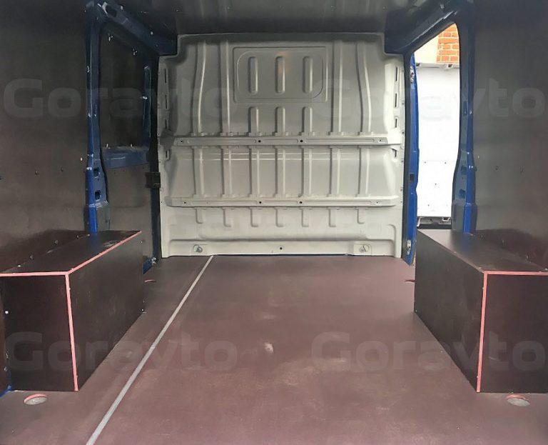 Обшивка ламинированной фанерой небольшого фургона Fiat Ducato