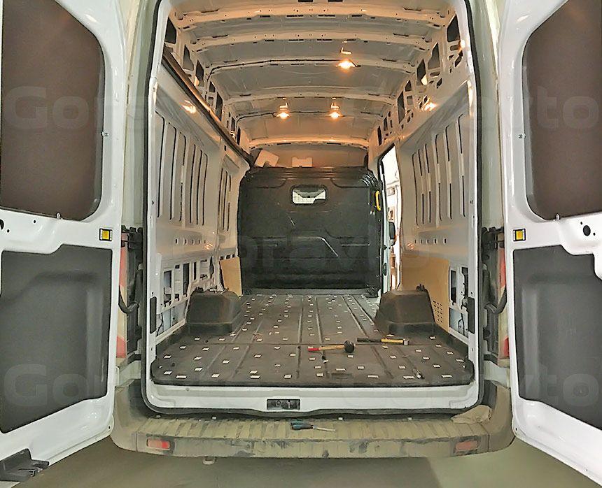 Обшивка большого фургона Ford Transit ламинированной фанерой: Подготовка фургона к монтажу обшивки