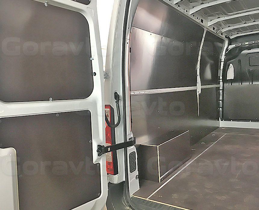 Обшивка фургона Renault Master ламинированной фанерой: Пол, стены, двери и арки