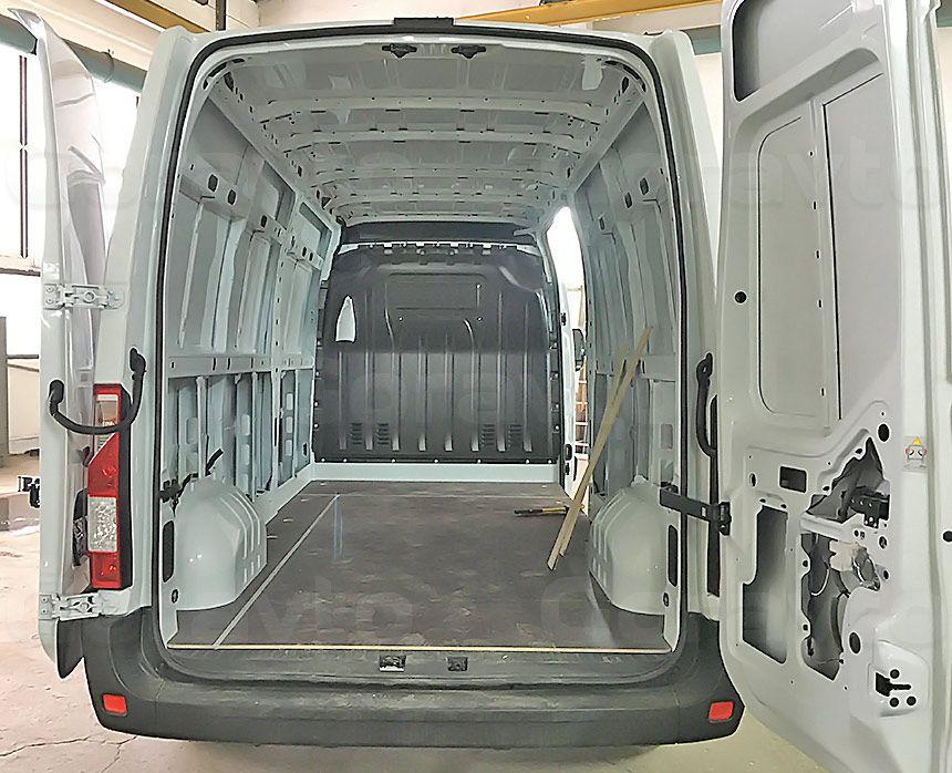 Обшивка фургона Renault Master ламинированной фанерой: Подготовка к монтажу обшивки