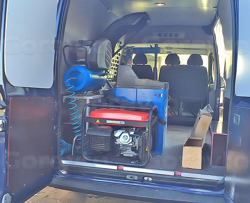 Мобильный шиномонтаж на основе фургона Fiat Ducato: Установленное оборудование