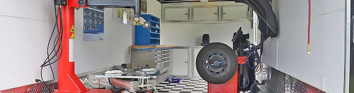 Шиномонтаж «под ключ» на базе промтоварного фургона