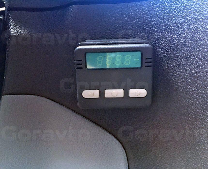 Утепление цельнометаллического фургона Ford Transit: Датчик температуры