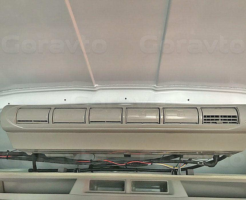 Утепление цельнометаллического фургона Ford Transit: Кондиционер в фургон