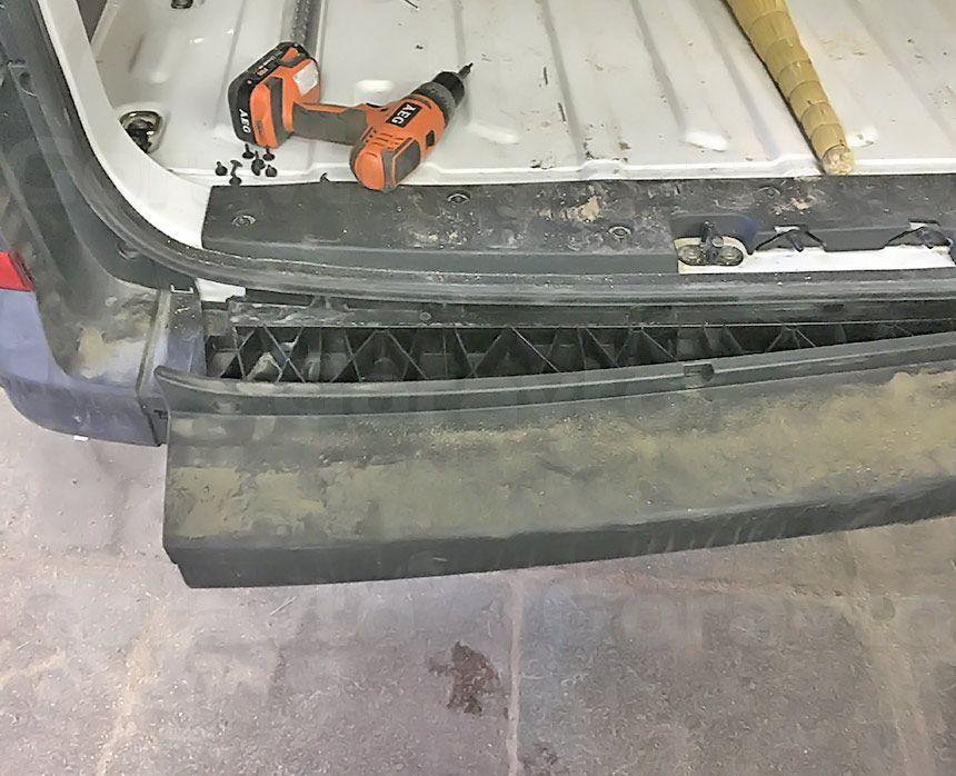 Установка парктроника на фургон Volkswagen Crafter: Установка бампера