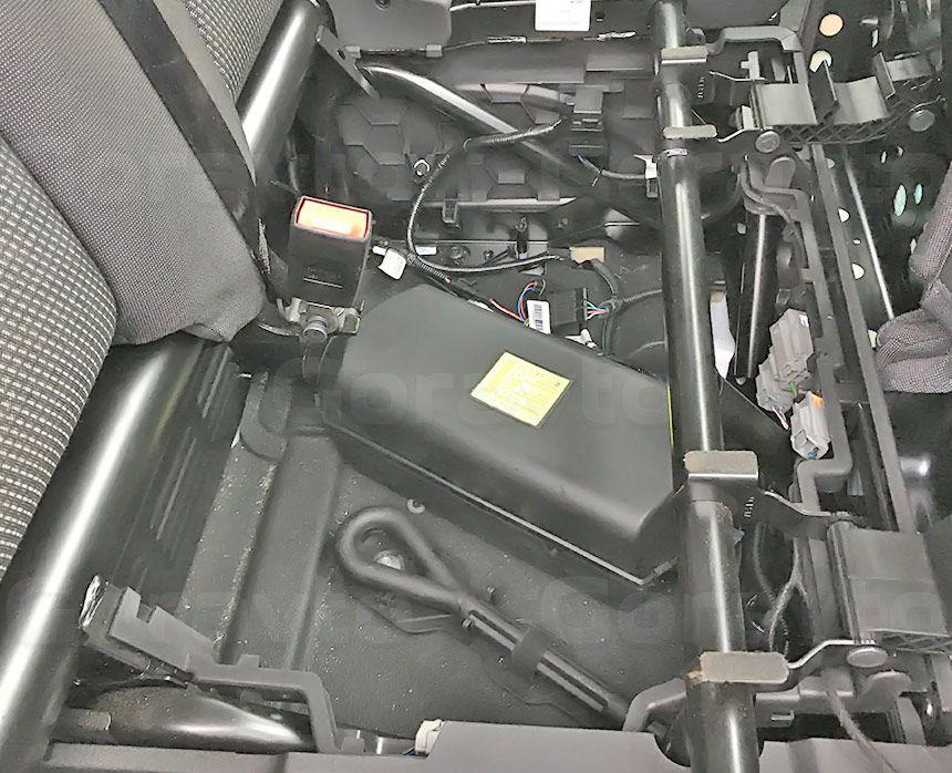 Утепление цельнометаллического фургона Ford Transit: Установленный отопитель