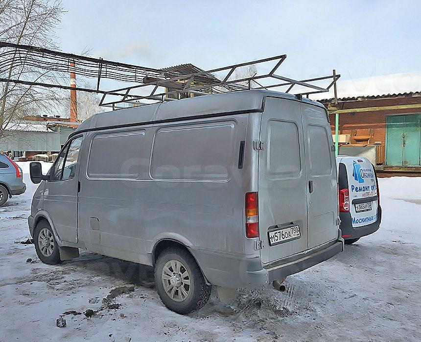 Автомобиль для охоты на основе фургона ГАЗ Соболь: Багажник на Соболь из нержавеющей стали