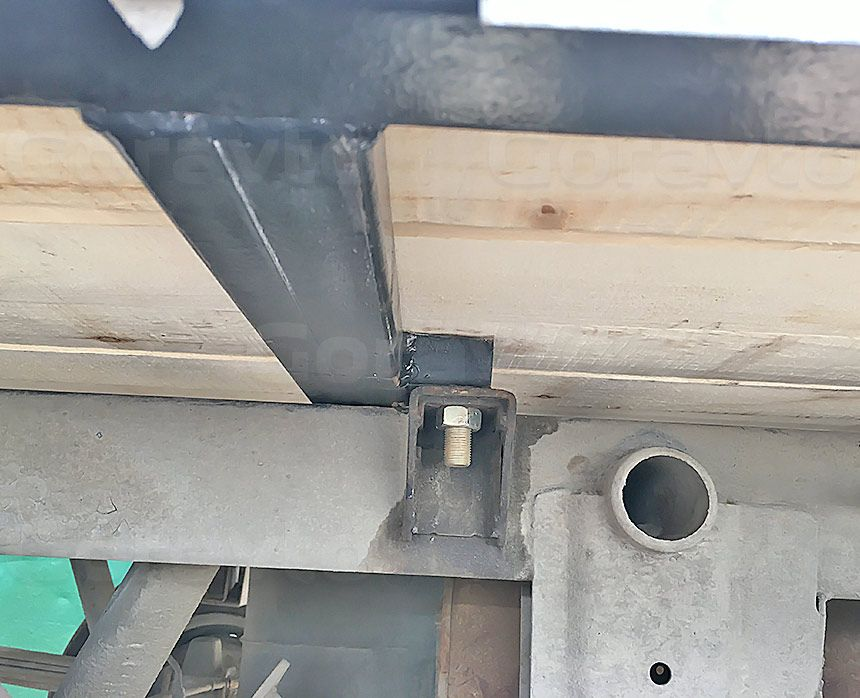 Ремонт рамы промтоварного фургона: Новые болтовые соединения и закладные