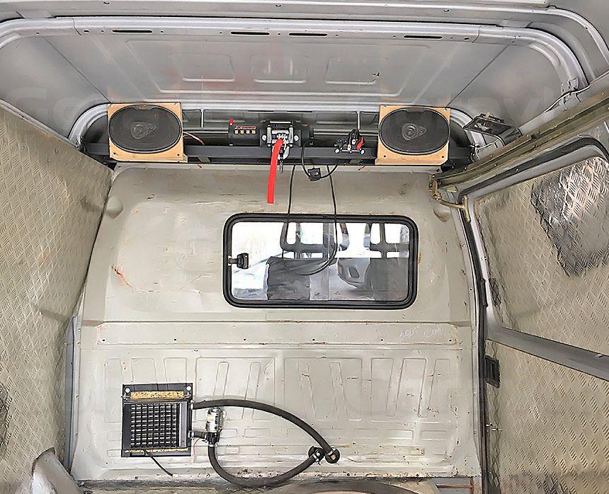 Автомобиль для охоты на основе фургона ГАЗ Соболь: Вывод отопителя в кузов
