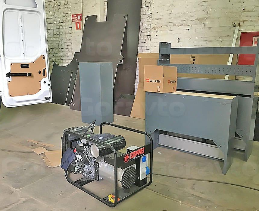 Мобильная мастерская на основе фургона Renault Master: Генератор для установки в фургон