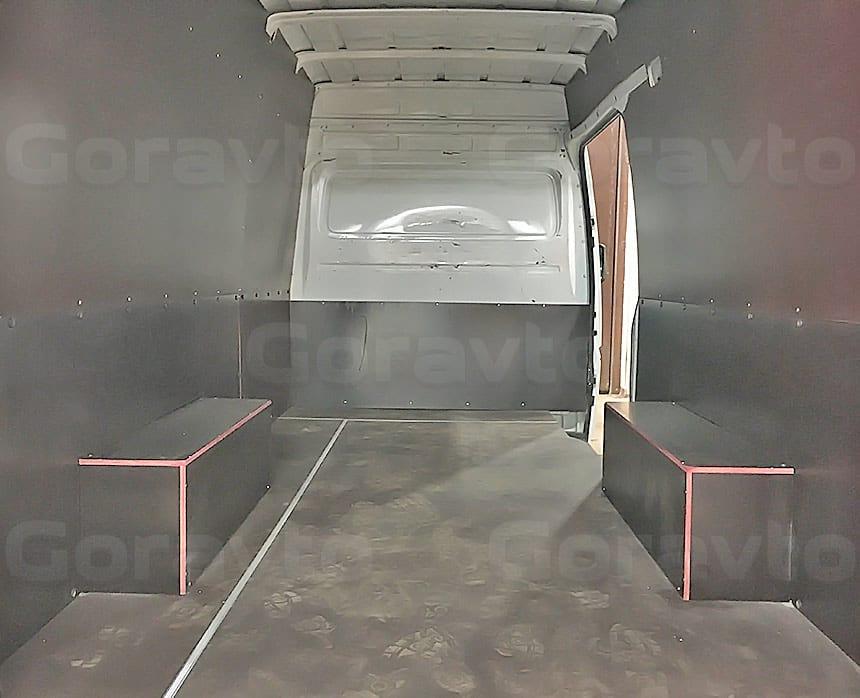 Обшивка фургона Mercedes-Benz Sprinter Classic ламинированной фанерой: Обшивка арок фургона