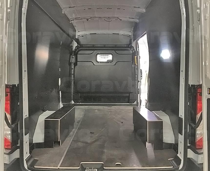 Обшивка фургона Ford Transit ламинированной фанерой: Обшивка пола, арок и стен фургона