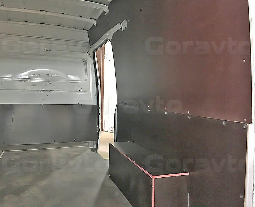 Обшивка фургона Mercedes-Benz Sprinter Classic ламинированной фанерой: Обшивка пола, стен и арок фургона