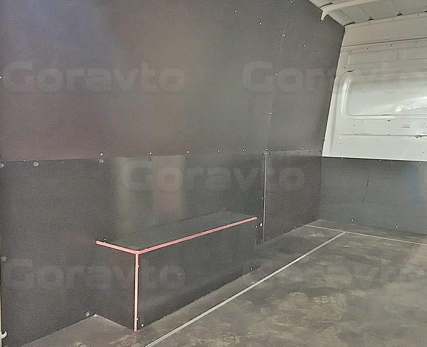 Обшивка фургона Mercedes-Benz Sprinter Classic ламинированной фанерой: Обшивка стен фургона