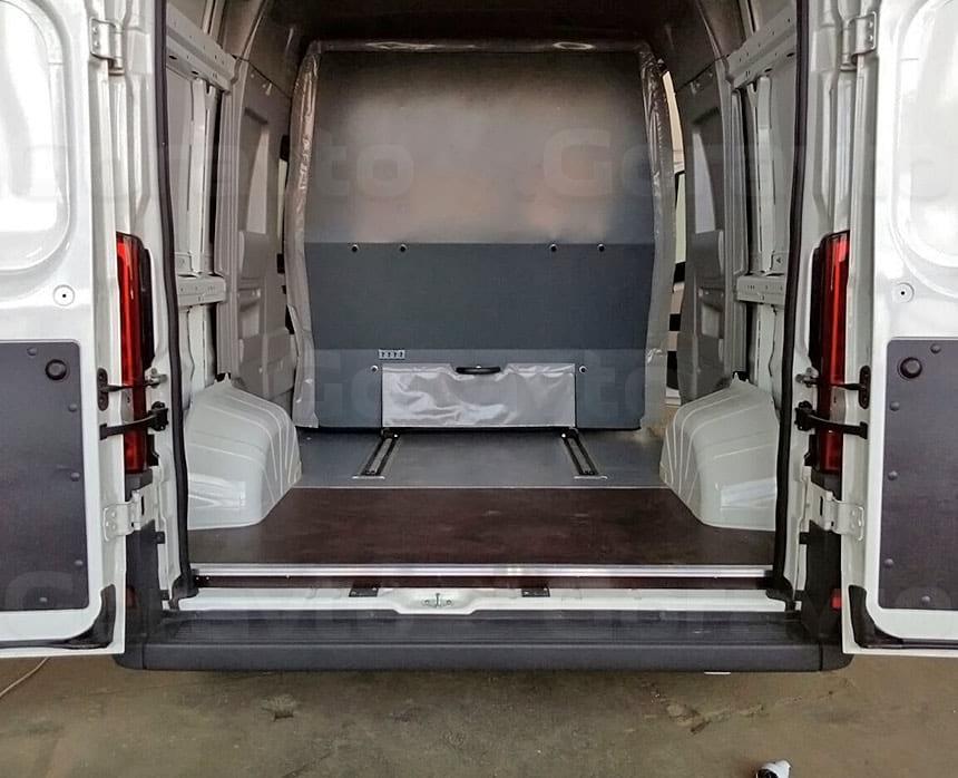 Подъём пола в грузовом отсеке грузопассажирского фургона: Пол для фургона из ламинированной фанеры