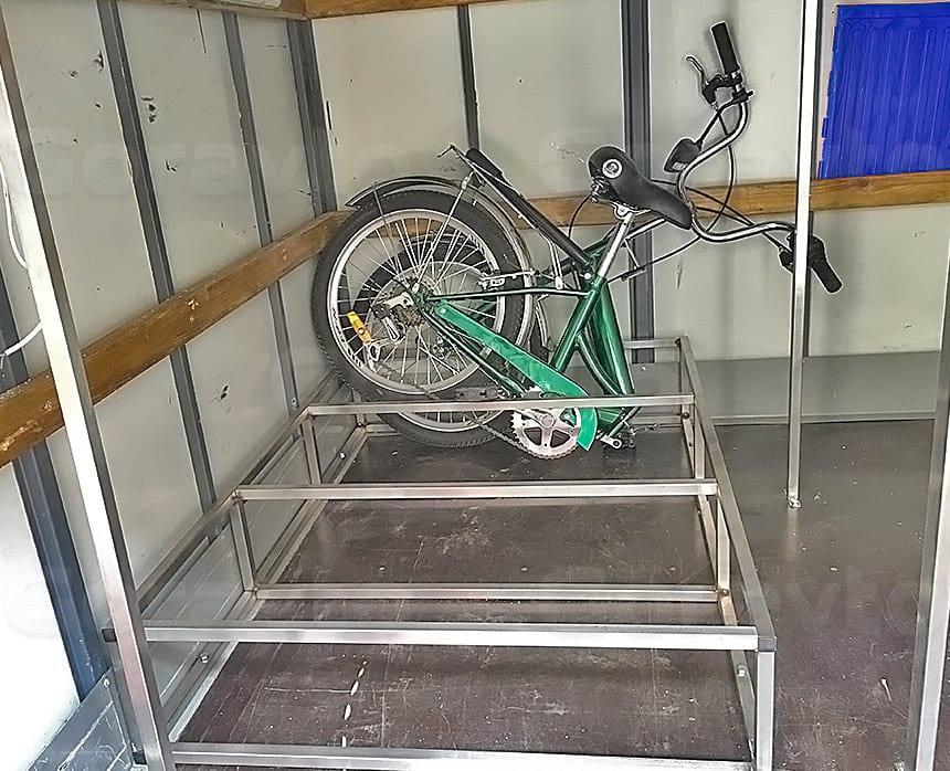 Переоборудование прицепа для дорожных служб: Рама для велосипедов