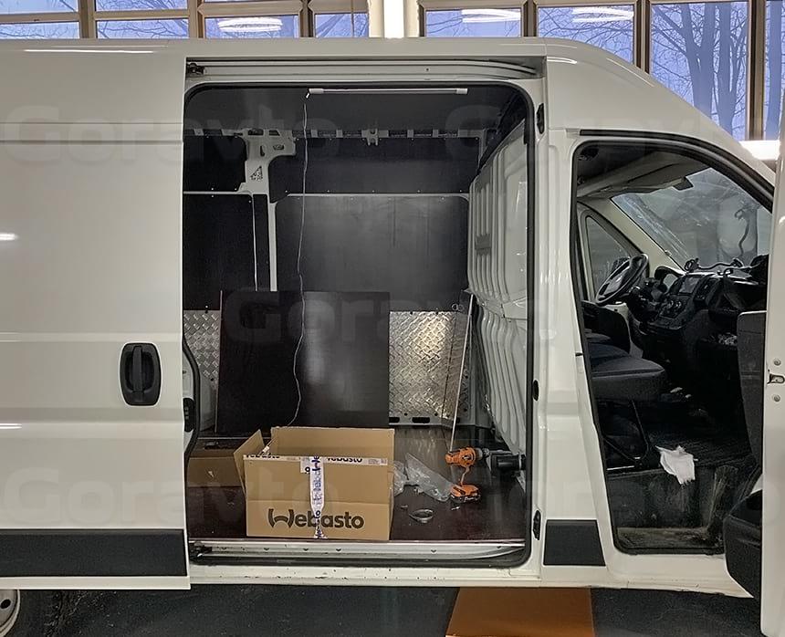 Подключение отопителя Вебасто к топливной системе фургона
