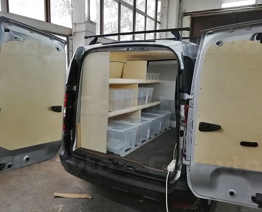 Стеллажные системы в кузов фургона Рено Докер