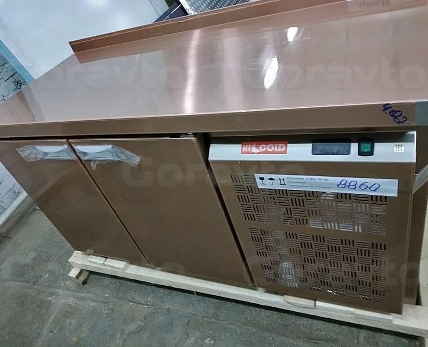 Столешница с камерами для охлаждения продуктов двух дверная в мобильную столовую на колесах