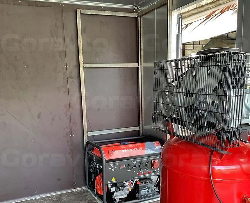 Монтаж рамы под генератор из нержавеющей стали