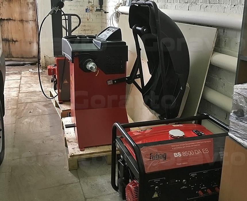 Новое оборудование — балансировка, шиномонтажный станок и генератор