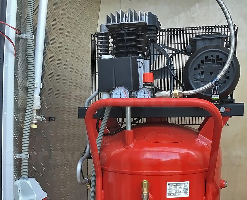 Подключение воздушного компрессора
