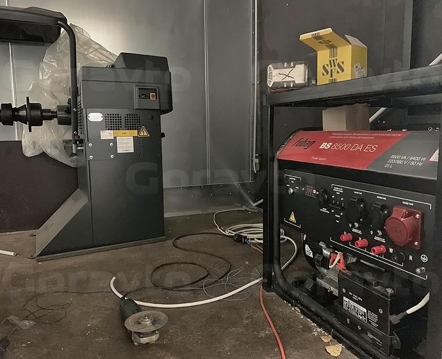Размещение и монтаж генератора и балансировочного станка