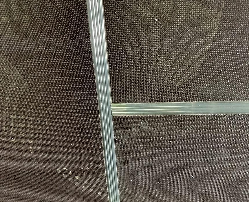 Стыковка Н-образного профиля продольного с поперечным