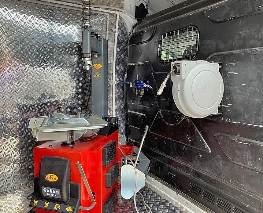 Монтаж и подключение улитки для работы с пневмоинструментом