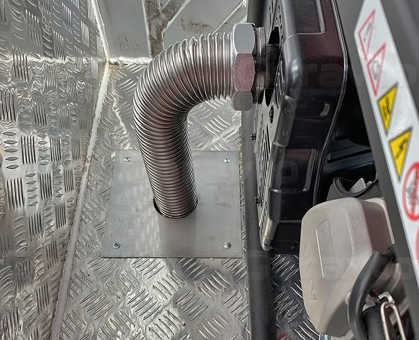 Стальная гофра для отведения выхлопа генератора