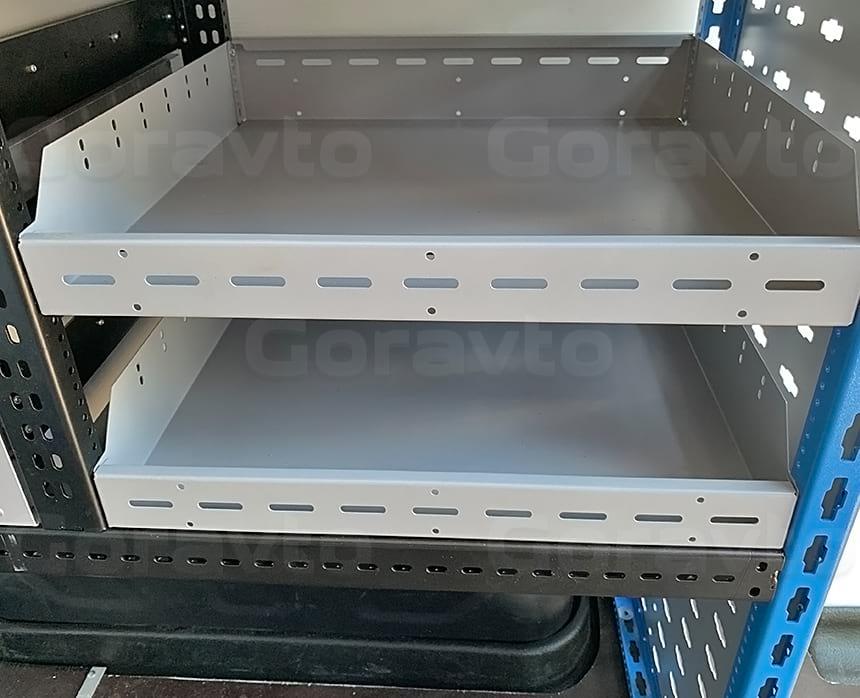 Изготовление и установка системы из двух стеллажей в фургон Ford Transit: Стеллажные системы для фургонов